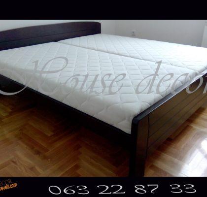 Bračni krevet Afrodita wenge 180×200 + 2 dušeka Superior 90×200